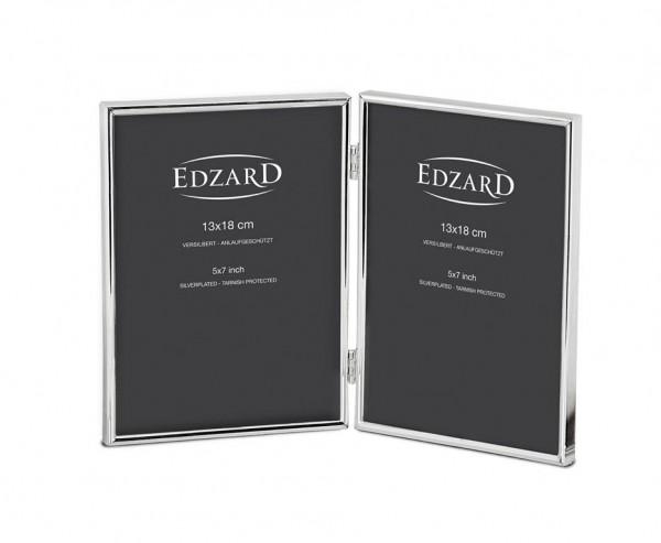Doppel-Fotorahmen Genua für 2 Fotos 13 x 18 cm, edel versilbert, anlaufgeschützt