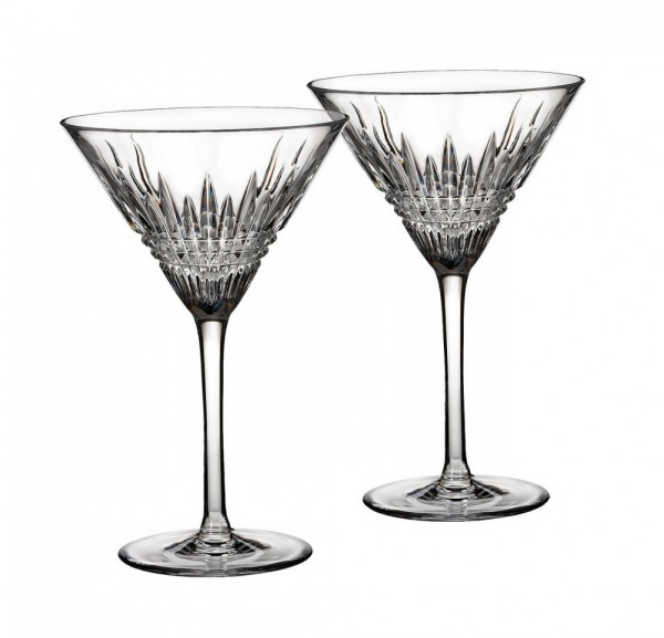Waterford Lismore Diamond Martiniglas, Set/2