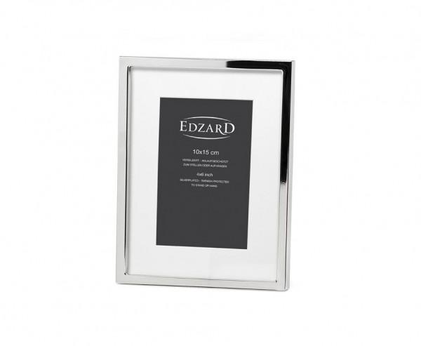 Fotorahmen Rivoli für Foto 10 x 15 cm, edel versilbert, anlaufgeschützt, mit 2 Aufhängern