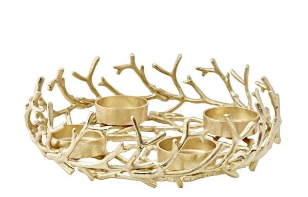 Adventskranz Porus Gold Ø 42 cm
