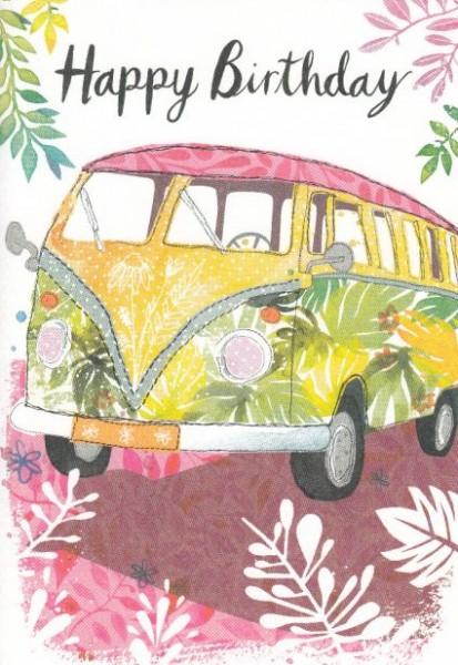 Happy Birthday (VW Bus) Grußkarte