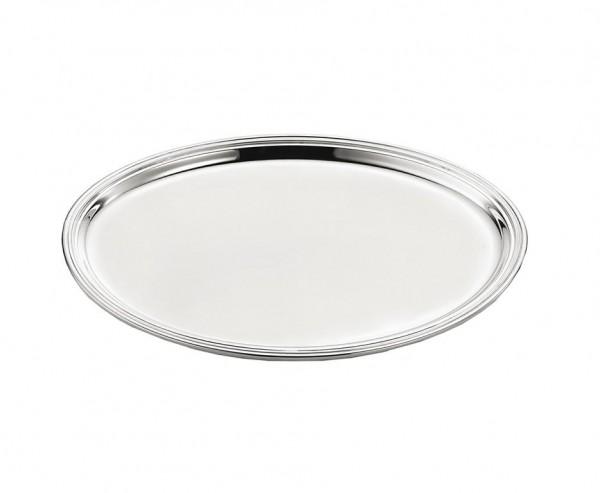 Serviertablett Faden, oval, Echtsilber 925/000, 22 x 27 cm, Silbergewicht 300 Gramm