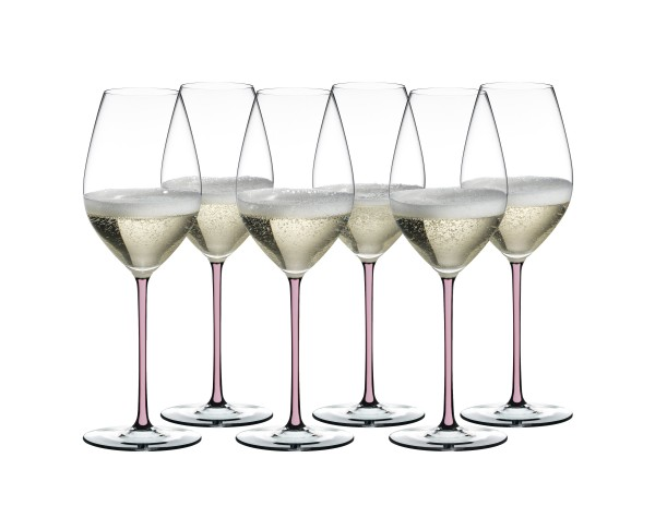 Riedel Fatto a Mano Pink Champagner/Weinglas Set