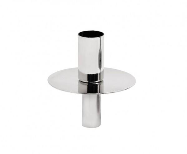 Flaschenaufsatz Kerzenhalter, Edelstahl glänzend vernickelt, Höhe 8 cm