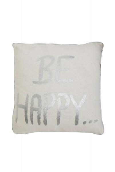 """""""Be Happy"""" Kissen 50 x 50 cm"""
