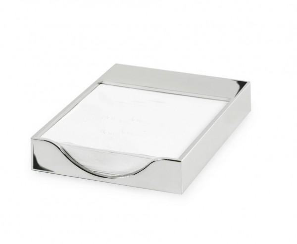 Zettelkasten Zettelbox Plano, für DIN A6, edel versilbert, anlaufgeschützt