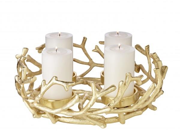 Adventskranz Porus Gold Ø 30 cm
