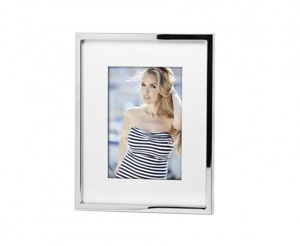 Fotorahmen Rivoli für Foto 13 x 18 cm, edel versilbert, anlaufgeschützt, mit 2 Aufhängern