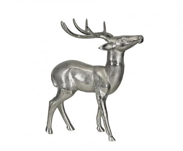 Deko Rentier, Aluminium vernickelt, Höhe 56 cm
