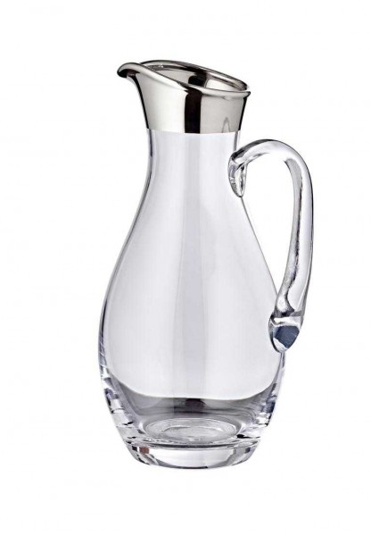 Krug Johnny, mundgeblasenes Kristallglas mit Platinrand, Höhe 30 cm, ø 14 cm, Füllmenge 1,8 Liter