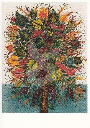Weintrauben Kunstkarte