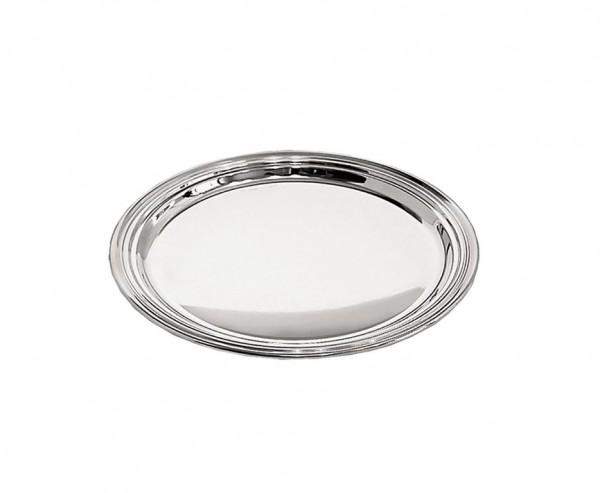 Flaschenteller Faden, Echtsilber 925/000, Ø 14 cm, Silbergewicht 69 Gramm