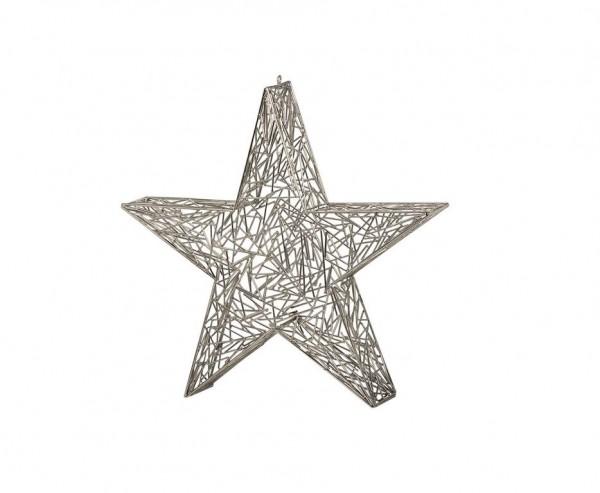 SALE Deko Stern Weihnachtsstern, Edelstahl glänzend vernickelt, Höhe 37 cm