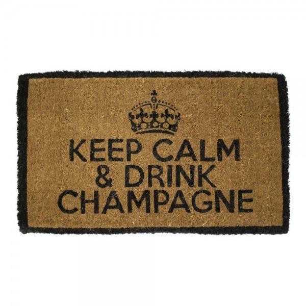 Keep Calm & Drink Champagne Fußmatte