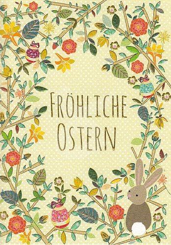 Fröhliche Ostern Grußkarte