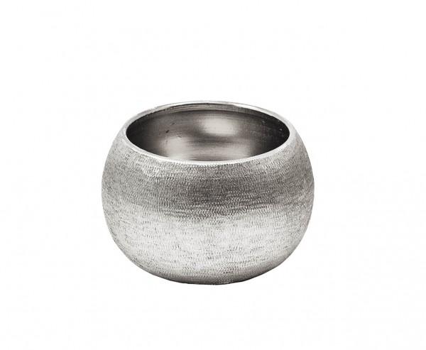 Schale Dekoschale Longley, Aluminium vernickelt, Ø 8 cm, Höhe 5 cm