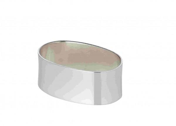 Serviettenring Liscio,oval, Länge 5,5 cm, Echtsilber 925/000, Silbergewicht 35 Gramm