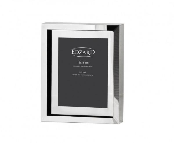 Fotorahmen Bilderrahmen Caserta für Foto 13 x 18 cm, edel versilbert, anlaufgeschützt
