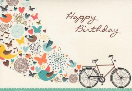 Happy Birthday (Fahrrad) Grußkarte
