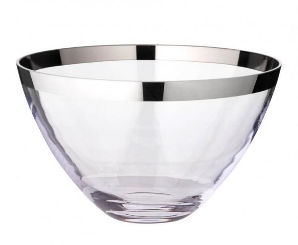 Schale Dekoschale Holly, mundgeblasenes Kristallglas mit Platinrand, Ø 30 cm