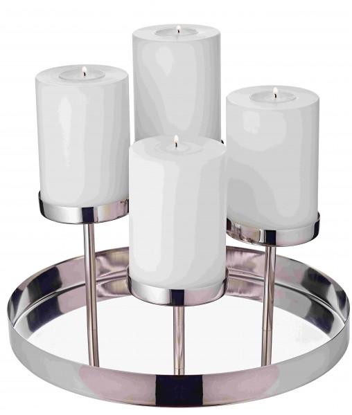 Kerzenhalter auf Teller Marbella H 16cm