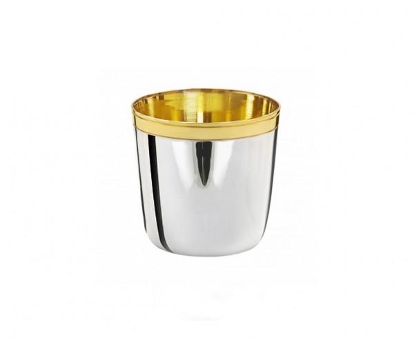 Silberbecher Schnapsbecher Likörbecher Axel, Echtsilber 925/000, innenvergoldet, Höhe 4 cm