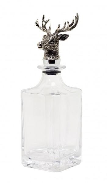 Glas Karaffe Hirsch H 28cm