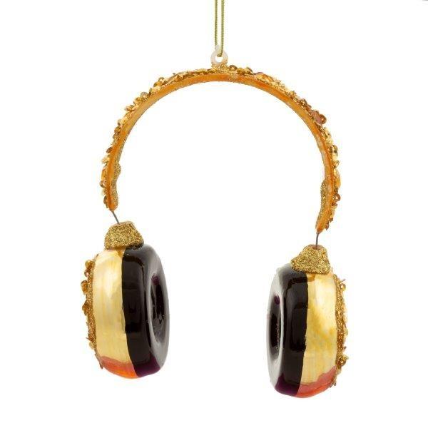 Gold Headphones Ornament