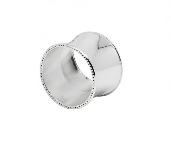 4er Set Serviettenringe Perla, edel versilbert, anlaufgeschützt, Ø 5 cm