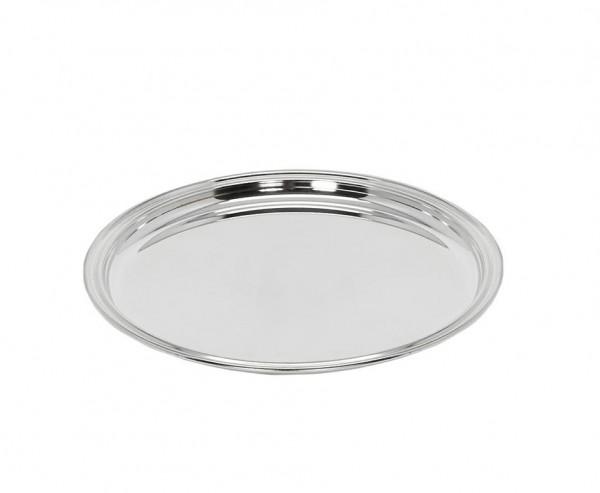 Tablett, Serviertablett Marlene, rund, Edelstahl hochglanzpoliert, Ø 34 cm