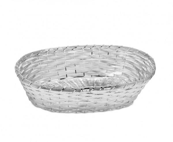 Korb Brotkorb Dekokorb Basket, edel versilbert, anlaufgeschützt, 21 x 30 cm