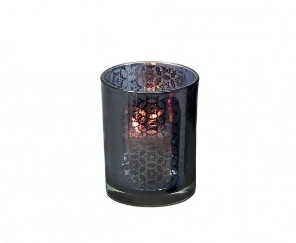 4er Set Kerzenpin Kerzenstecker Stern Weihnachtsstern, Aluminium vernickelt, Höhe 5 cm