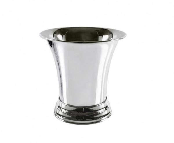 Sektkühler Weinkühler Tromba mit Griffen, schwerversilbert, Höhe 25 cm, Ø 25 cm