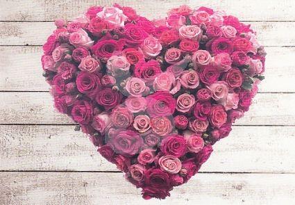 Herz aus Rosen Grußkarte