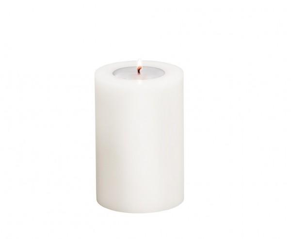 Teelichthalter Cornelius, für Maxi-Teelicht. Höhe 15 cm, Ø: 10 cm hitzebeständig 90°