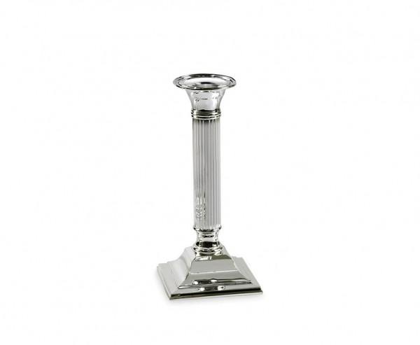 Kerzenleuchter Lincoln für Stabkerze, kannelierter Schaft,edel versilbert, anlaufgeschützt, H 19 cm